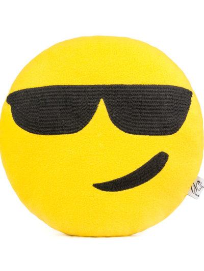 подушка смайл в очках