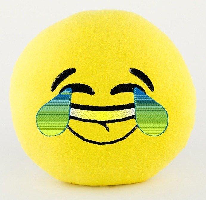 подушка со смайликами смех до пота