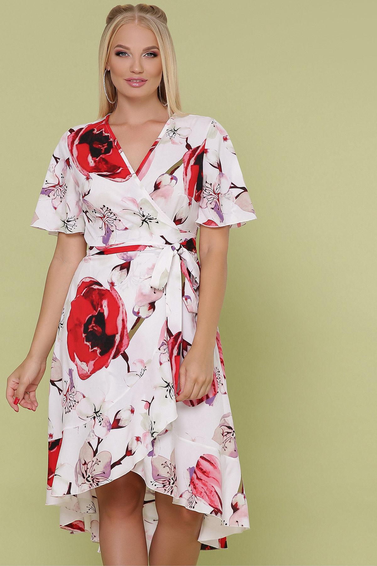 Платье с запахом большого размера3
