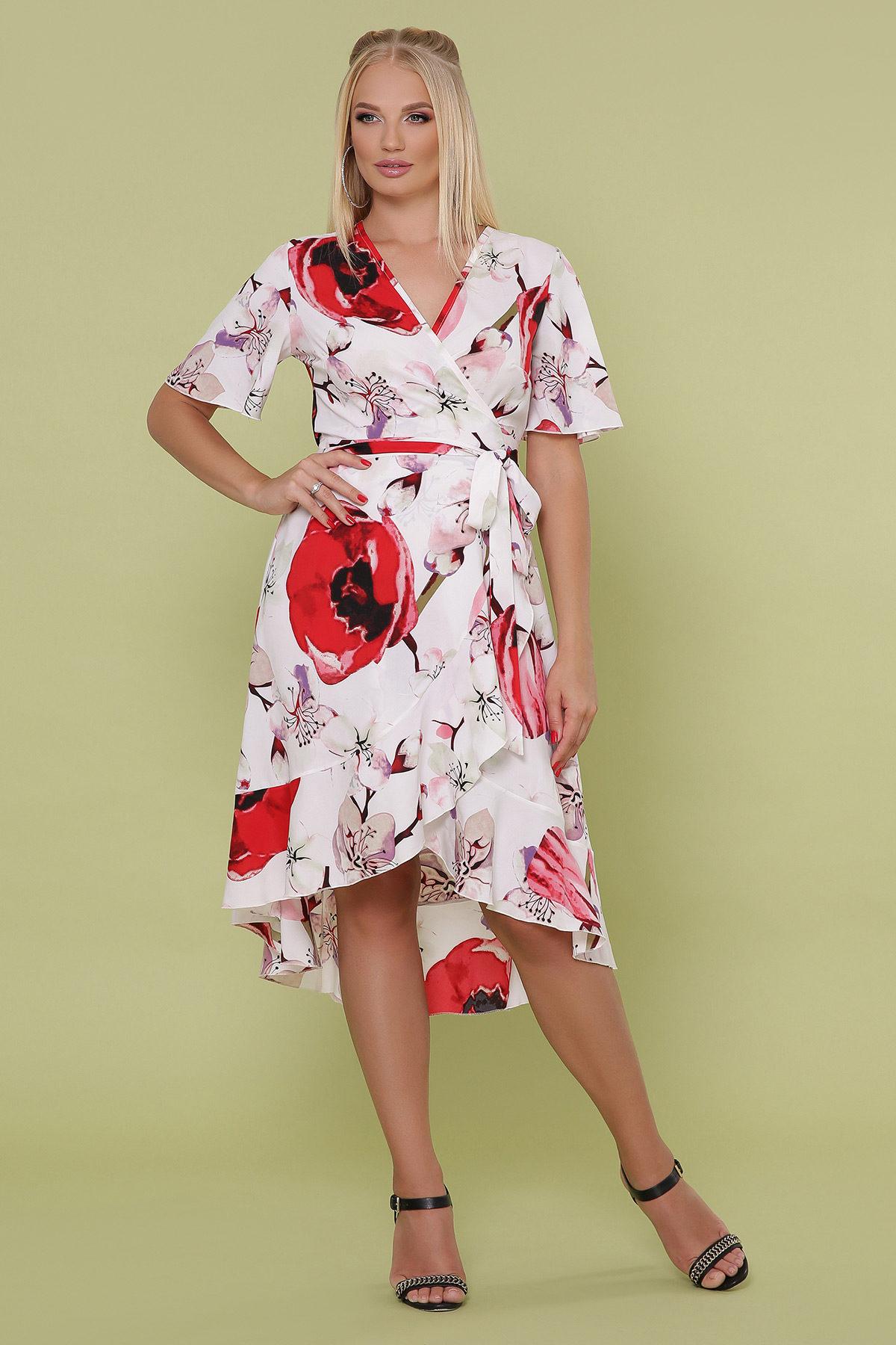 Платье с запахом большого размера2