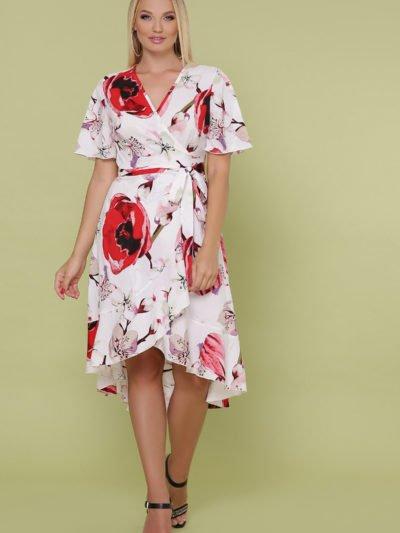 Платье с запахом большого размера1