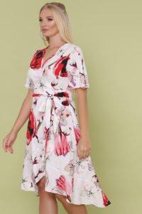 Платье с запахом большого размера