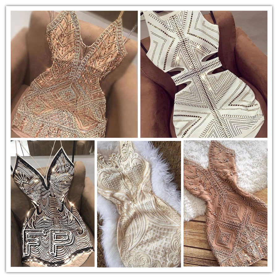 платья бисером