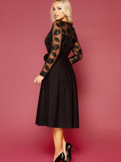Черное платье с пышной юбкой-2
