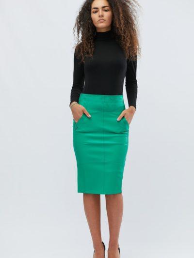 Купить юбку карандаш с завышенной талией -2