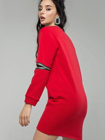 Худи платье красное2
