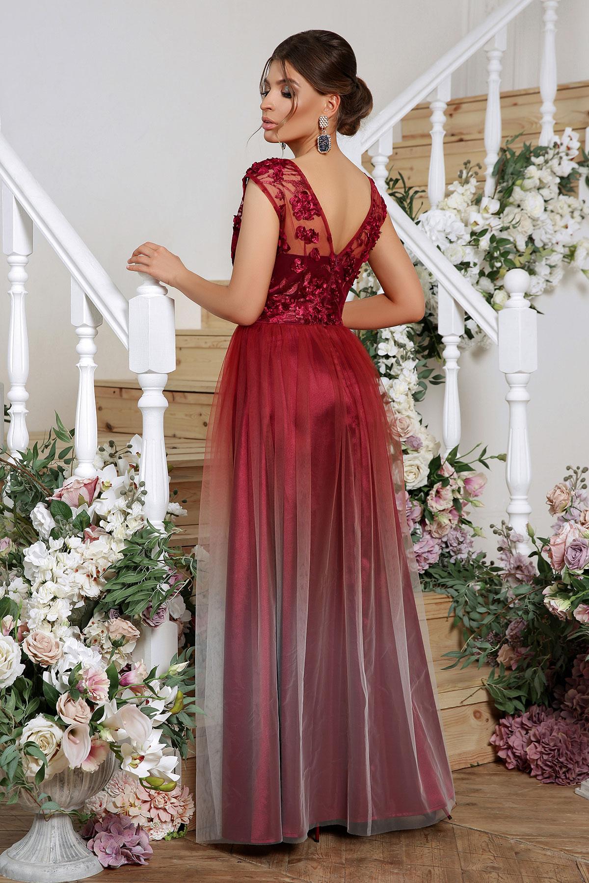 Вечернее платье с юбкой сеткой 2
