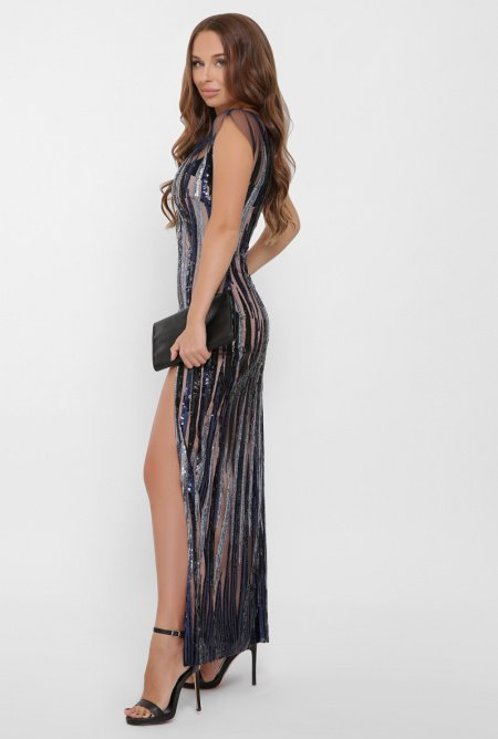 длинное платье из пайеток 3