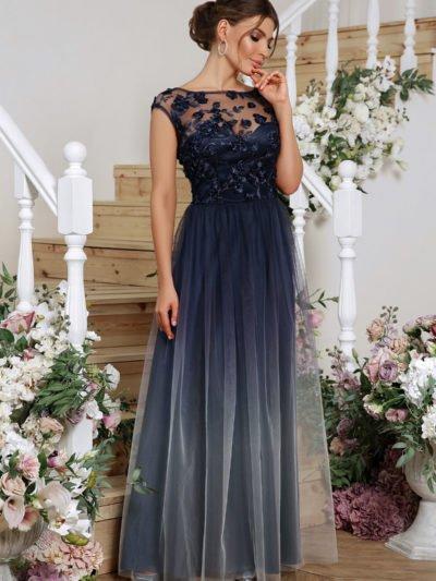 Вечернее платье с юбкой сеткой 6