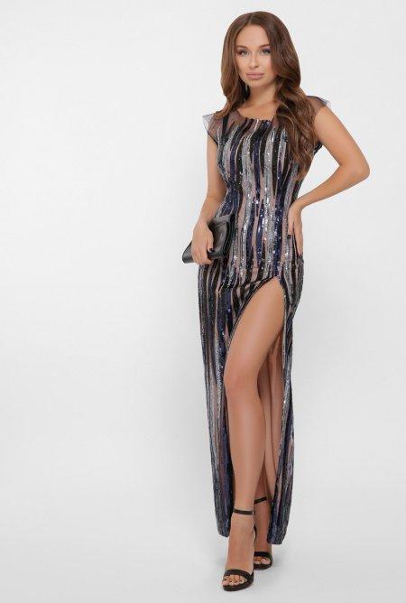 длинное платье из пайеток 2