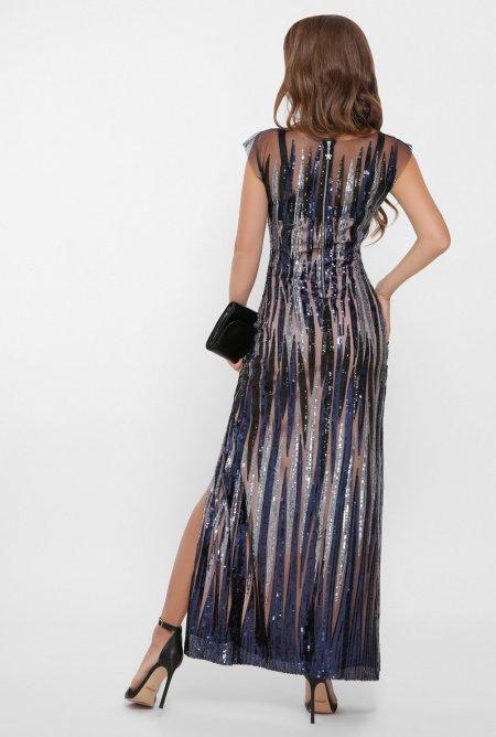 длинное платье из пайеток 4