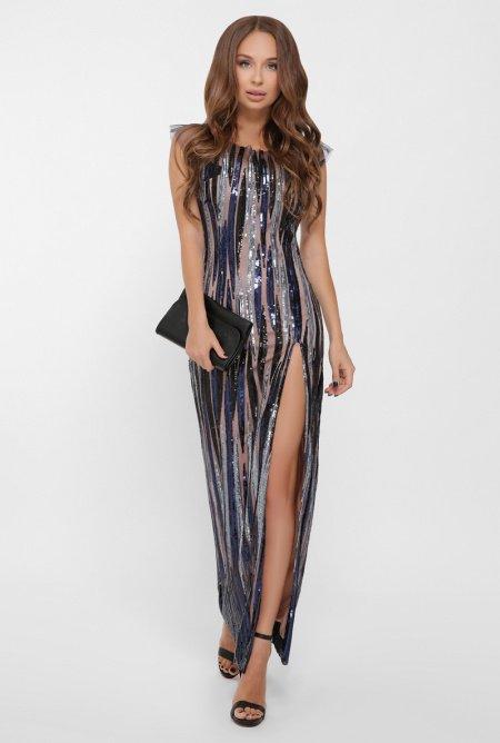 длинное платье из пайеток