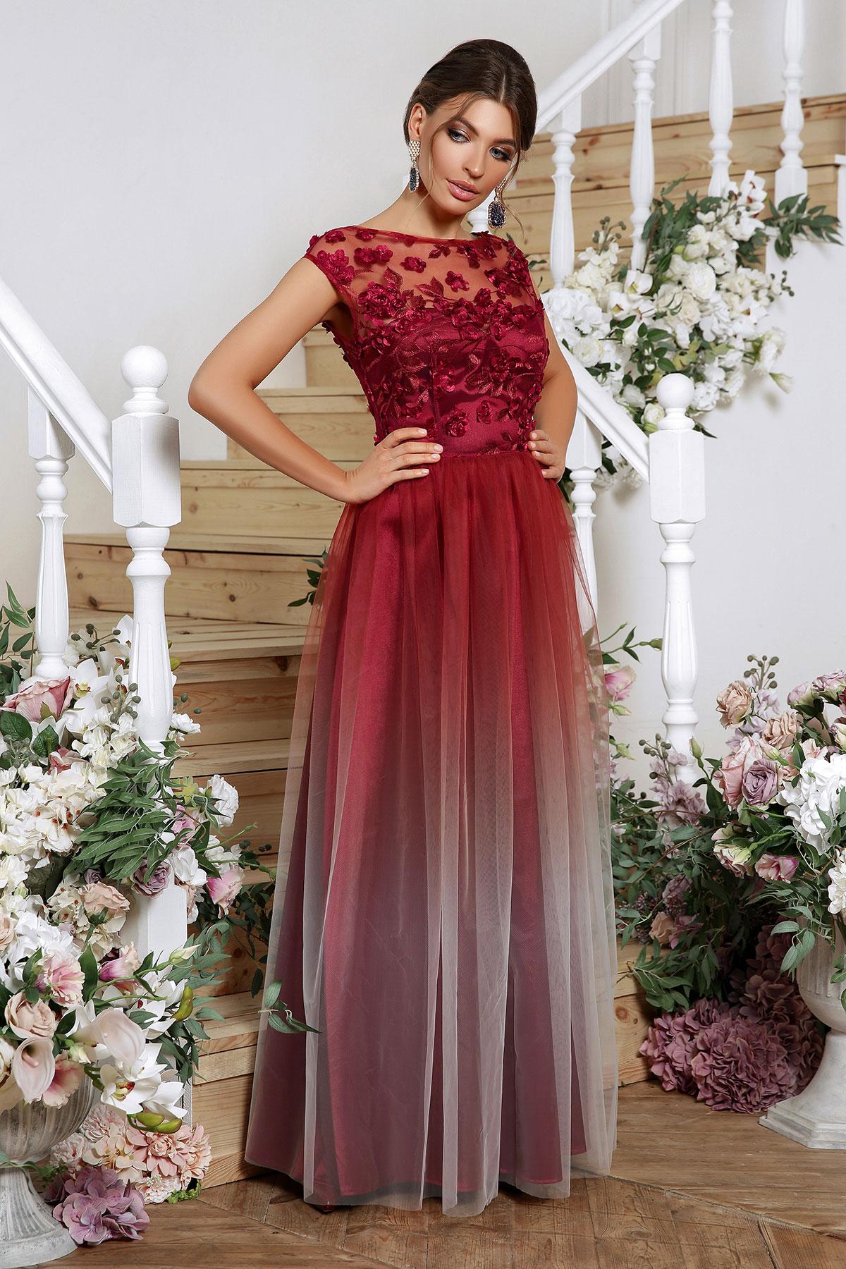 Вечернее платье с юбкой сеткой 3