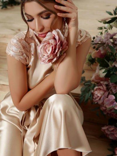 Ассиметричное платье на выпускной 2