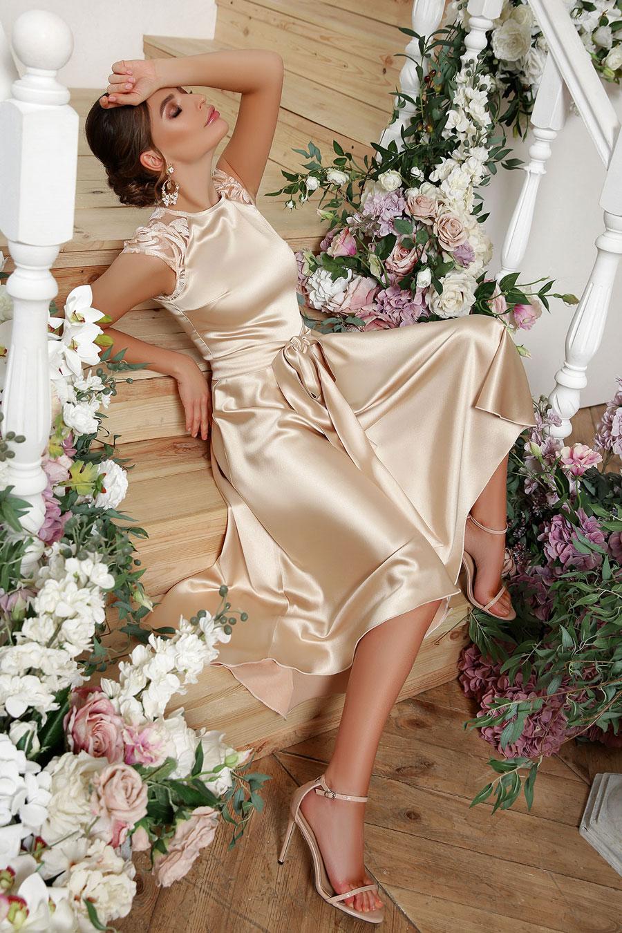Ассиметричное платье на выпускной 3