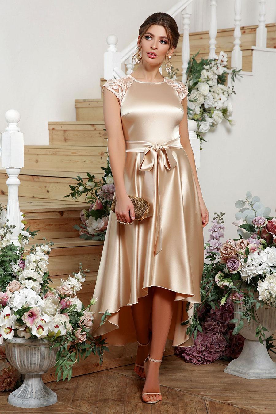 Ассиметричное платье на выпускной 4