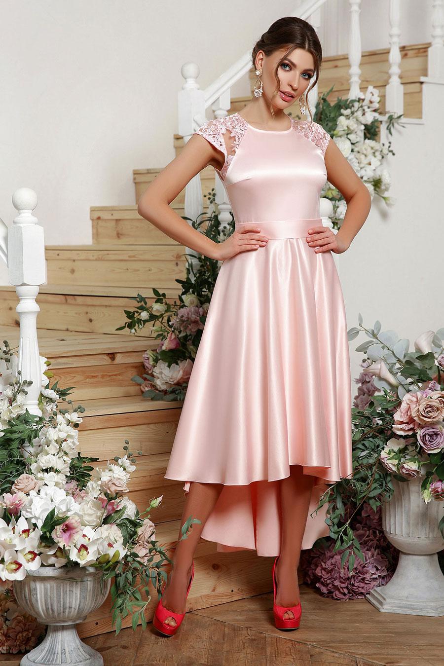 Платья для выпускного: ассиметричное платье