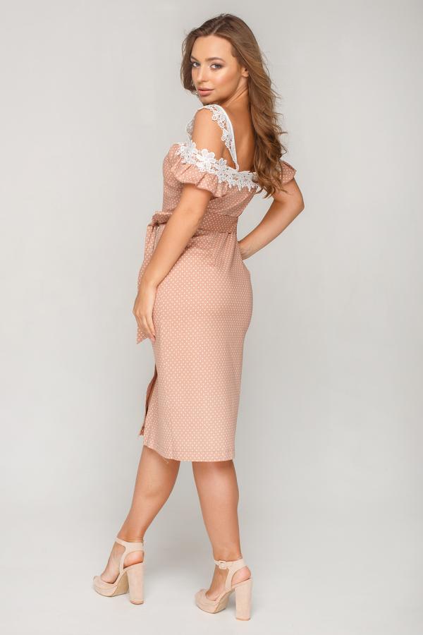 Платье в горошек с кружевом 3