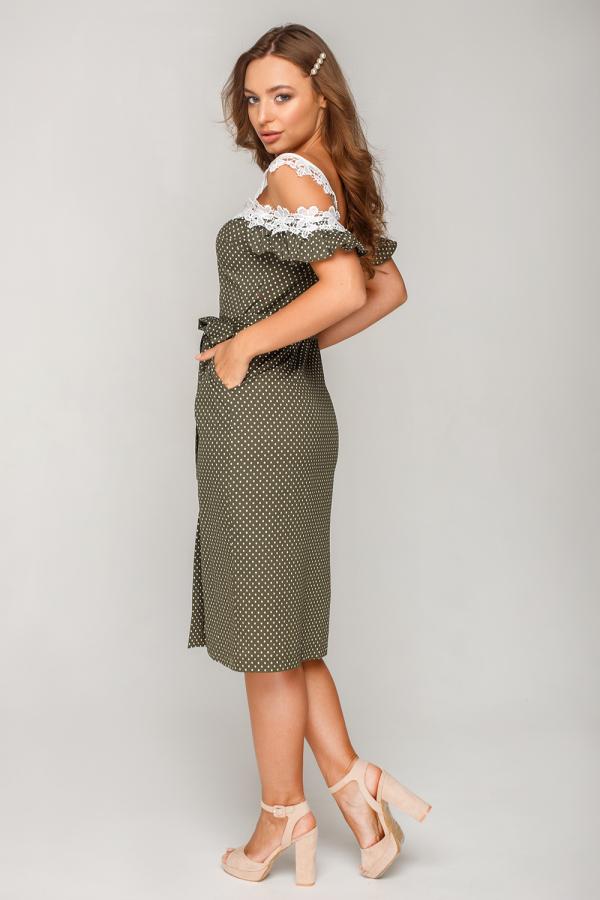 Платье в горошек с кружевом 6