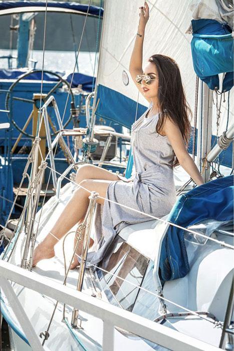 Длинное платье с разрезом: летнее на каждый день 2