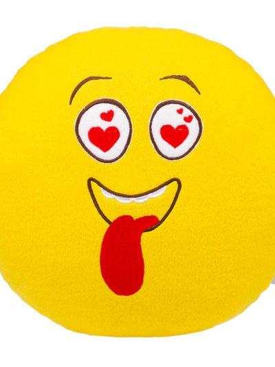 Подушка смайл влюбленный глаза сердечки